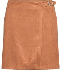 vegan suede wrap mini skirt kort kjol banana republic