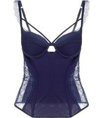 corselet bojo ginger loungerie – azul marinho