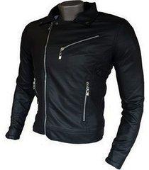 chaqueta para hombre en cuero sintético chamarra