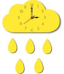 nubes patrón creativo salón decorativo reloj de pared