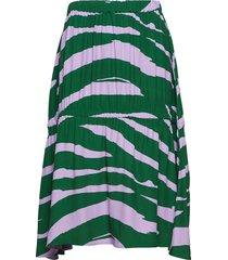 olivia knälång kjol grön fall winter spring summer