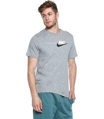 camiseta gris nike