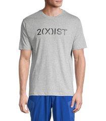 2(x)ist men's logo t-shirt - blue marle - size l
