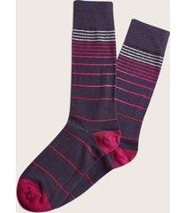 medias largas de rayas rosada negro 10-12