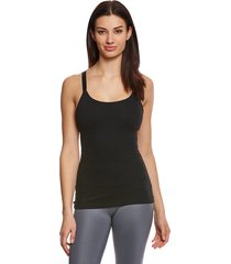 beyond yoga women's live free or tie hard support tank top - jet black x-small wood