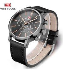 reloj para hombre/correa de piel/ mini focus / 0023g /-negro