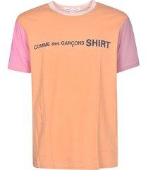 comme des garçons colourblock logo t-shirt