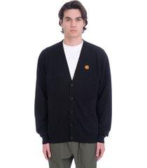 kenzo cardigan in black cotton