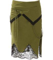 alexander wang midi skirt with lace