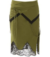 alexander wang midi skirt with lace