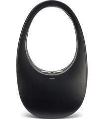 structured top handle leather hobo bag