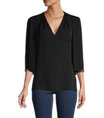 kobi halperin women's bria silk blouse - amber - size xs