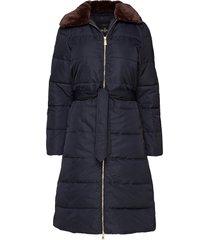 jane coat gevoerde lange jas blauw morris lady