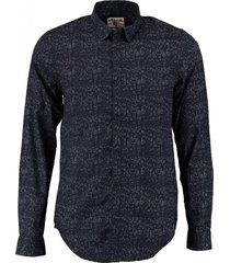 garcia donkerblauw slim fit overhemd valt kleiner