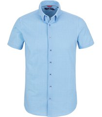 stone rose short sleeve tech knit button-up shirt, size xx-large in light blue at nordstrom