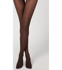 calzedonia 30 denier totally invisible tights woman brown size 4