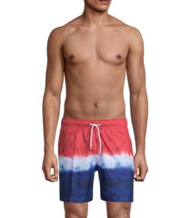 trunks surf + swim men's ombré swim shorts - red white blue - size l