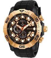 reloj invicta negro modelo 282lk para hombre, colección sea hunter