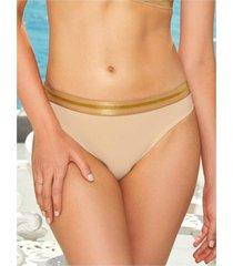 chamela 24841 - panty brasilera - ropa interior femenina para mujer-beige