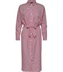 clean shirt dress with press buttons knälång klänning rosa scotch & soda