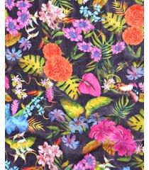 echo tropical botanical-print scarf