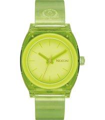 reloj medium time teller verde nixon