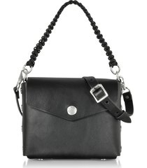rag & bone designer handbags, atlas black leather shoulder bag