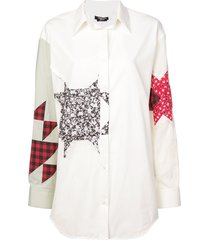 calvin klein 205w39nyc patchwork shirt - white
