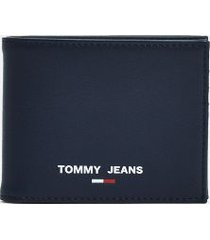 tommy hilfiger men's tj recycled credit card wallet twilight navy -