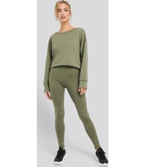 na-kd basic basic highwaist leggings - green