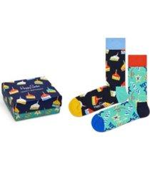 happy socks men's happy birthday gift socks, pack of 2