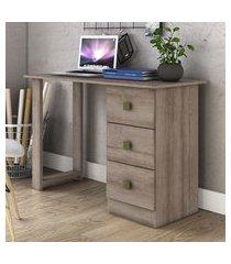 mesa escrivaninha movelbento 3 gavetas rústico