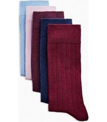 mens multi ribbed socks 5 pack