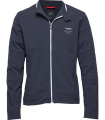 amr softshell moto dun jack blauw hackett london