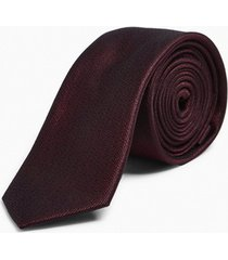 mens red burgundy premium silk tie