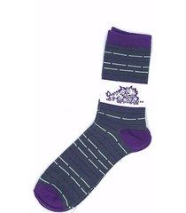 tcu horned frogs ncaa thin unisex dress socks