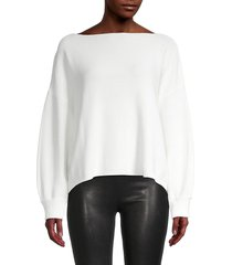 french connection women's boatneck cotton sweater - black - size xs