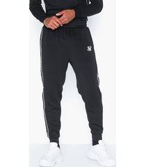 siksilk fitted panel tape track pants byxor black