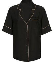 kiki de montparnasse short sleeved pajama set - black