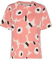 kautta unikko t-shirt t-shirts & tops short-sleeved roze marimekko