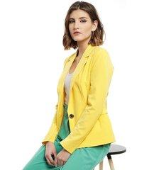 blazer vero moda caro amarillo - calce ajustado