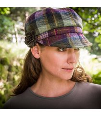 ladies irish wool newsboy cap wine one size