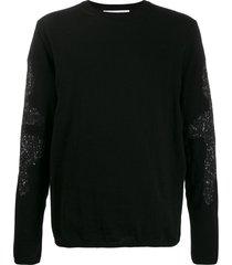 comme des garçons shirt contrast knit sweater - black