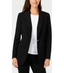 anne klein bi-stretch one-button jacket, created for macy's