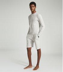 reiss tyne - jersey shorts in soft grey, mens, size xxl