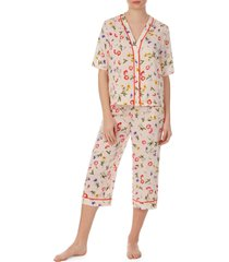women's room service crop pajamas, size large - pink (nordstrom exclusive)