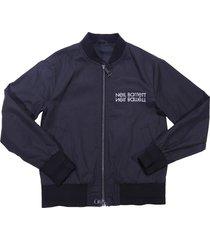 neil barrett black nylon bomber jacket