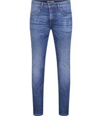 arne pipe mac jeans donkerblauwe wassing