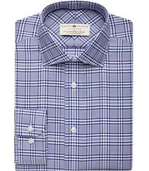 joseph abboud voyager navy check dress shirt