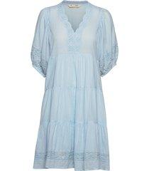 laura dress knälång klänning blå odd molly